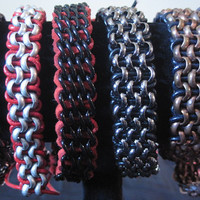 Heavy Metal Bracelets!  \m/\m/  Chain with Leather or Suede. Various Styles.