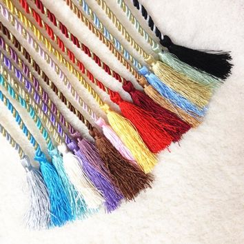 New Colorful Window Cotton Rope House Hobby Useful Window Tieback Tassel For Curtains Decorations OB