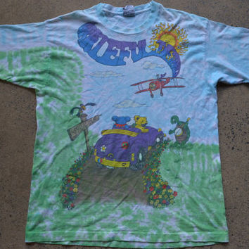 Vintage 90's Tie Dye Spring Tour Grateful Dead Dancing Bear Hippie T Shirt