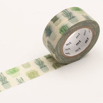mt EX Washi Tape Single Cactus - Omoi Zakka Shop