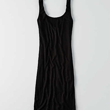 Don't Ask Why Ribbed Tank Dress, Black