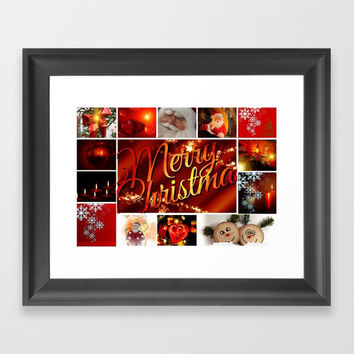 Marry Christmas Framed Art Print by Karl-Heinz Lüpke