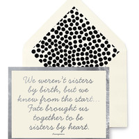 We Weren't Sisters By Birth Greeting Card, Single Blank Card or Boxed Set