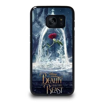 beauty and the beast rose in glass samsung galaxy s7 edge case cover  number 1