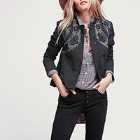 Free People Womens Decadent Embroidered Jacket