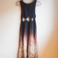 arts and crafts -- diamond cut maxi dress