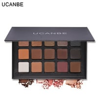 UCANBE Brand 15 Colors  Eye Shadow Makeup Palette Shimmer Matte Natural Fashion Glitter Eyeshadow Pigment Cosmetics Make Up Set