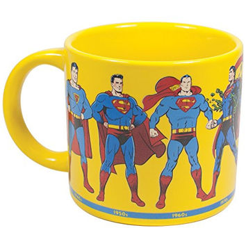 Superman Through The Years Mug - Action Comics - DC- Officially Licensed
