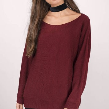 A Memory Off Shoulder Sweater