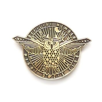 Night Owl's Club Pin
