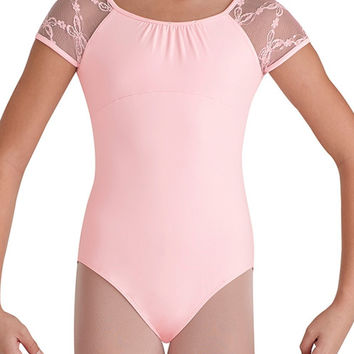 Child Butterfly Cap Sleeve Leotard (Pink)