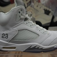 "Air Jordan Retro 5 ""White Metallic"""