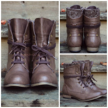Pinedale Brown Lace Up Ankle Boots