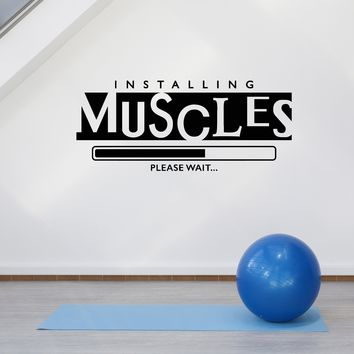 Vinyl Wall Decal Home Muscle Gym Fitness Motivation Sports Decor Stickers Mural Unique Gift (ig5178)
