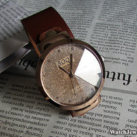 Leather Mens Watch,Leather Wrist Watch,Women's Leather Wrist Watch,lady watch,womens watch,watch(h001)