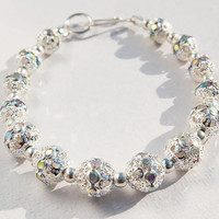Wedding bracelet, Color AB Crystal Rhinestone, bridesmaids gifts