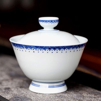 Chinese Gaiwan Tea Cup and Saucer, Home Decoration Giftware