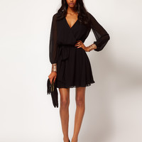 ASOS | ASOS Wrap Dress with Sequin Cuff at ASOS