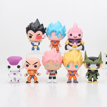 Batman Dark Knight gift Christmas 10cm Dragon Ball Z Goku Superhero Batman The Joker Harley Quinn Princess Belle Hatsune Miku PVC Action Figure Toys Opp Bag AT_71_6