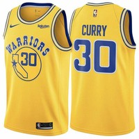 Golden State Warriors Stephen Curry #30 Gold Hardwood Classic Swingman Jerseys - Best Deal Online