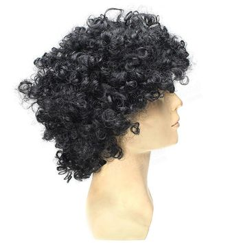 Black Curly Wig Costume Wig Caps Cosplay Halloween