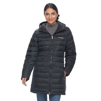LMFPL3 Women's Columbia Frosted Ice Hooded Puffer Jacket | null