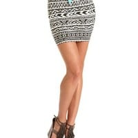 Aztec Print Cotton Mini Skirt: Charlotte Russe