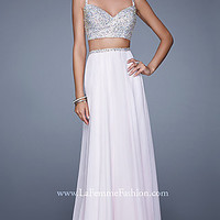 Long Two Piece Prom Dress by La Femme