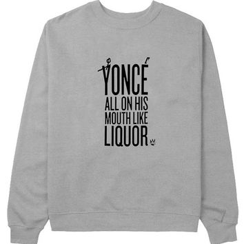 yonce sweater Gray Sweatshirt Crewneck Men or Women for Unisex Size with variant colour