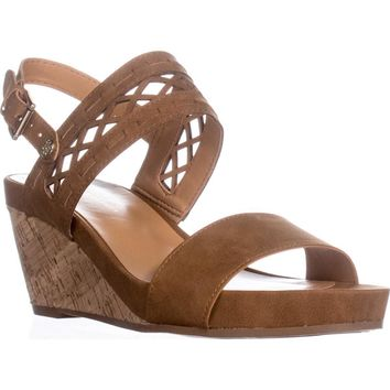 Tommy Hilfiger Jenesis Platform Wedge Sandals, Medium Brown, 6.5 US