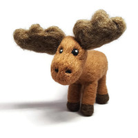 Woodland Animal, Woodland Nursery Decor, Moose Decor, Woodland Creature, Moose Gift Moose Plush, Moose Art, Wool Moose, Needle Felted Animal