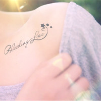 2pcs Bleeding Love tattoo - InknArt Temporary Tattoo - temporary tattoo wrist neck ankle tiny small tattoo body sticker