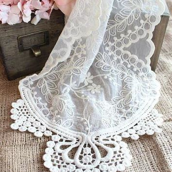 "Lace Table Runner in Ivory12"" x 74"""