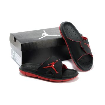 Nike Air Jordan Black/Red Casual Sandals Slipper Shoes Size US 7-13