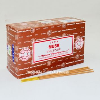 Satya Musk Incense Sticks 180 Gram - Set of 12 Boxes of 15 Gram on RoyalFurnish.com