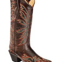 Tanner Mark Barcelona Chocolate Stitched Cowgirl Boots - Pointed Toe - Sheplers