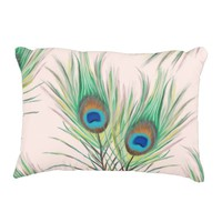 Unique Peacock Feathers Pattern Accent Pillow