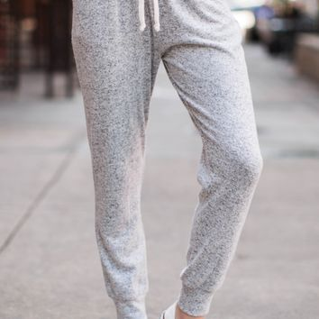 Fringe Too Legit Heather Grey Jogger Pants