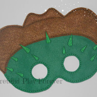 READY TO SHIP Toby Inspired Pretend Mask, Felt Cowboy Cat Mask, Sheriff Callie Party Favors, Pretend Play, Imagination Toys