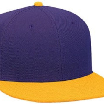 Otto Cap 125-978 - Wool Blend Snapback (Gld/Pur/Pur)