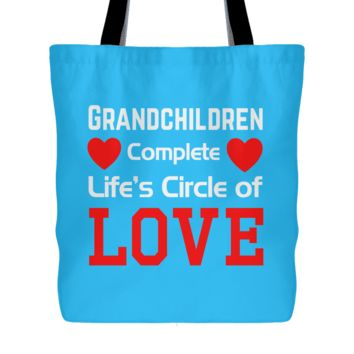 """Circle of Love"" Cotton Tote Bag"