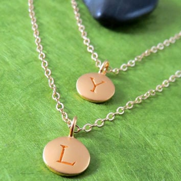 Double Layer Initial Necklace