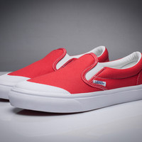 Vans Red/White Classic Canvas Leisure Shoes