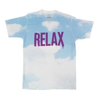 Relax Cloud sublimation printed graphic tee by Altru Apparel