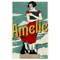 Amelie Movie Art Poster 11x17
