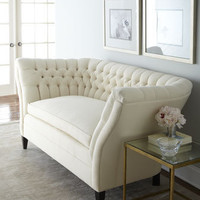 "Old Hickory Tannery - ""Ellsworth"" Tufted-Curve Sofa - Horchow"