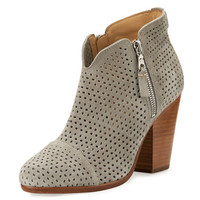 Rag & Bone Margot Perforated Suede Ankle Boot