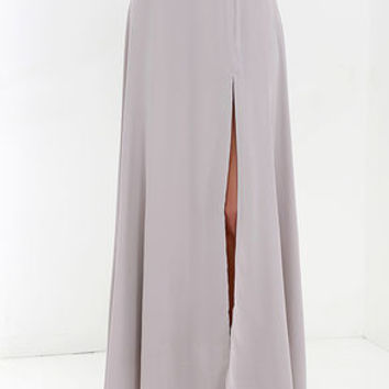 Seaside Soiree Taupe Maxi Skirt