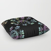 Flora Bohemia Floor Pillow by inspiredimages