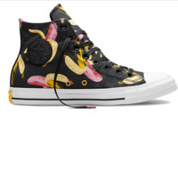"""Converse"" Fashion Canvas Flats Sneakers Sport Shoes High tops Black print Banana"